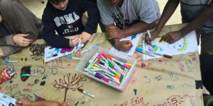 coloring with kids image