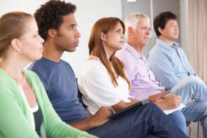 people in a meeting image