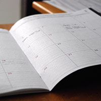 calendar notebook image