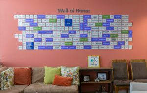 OUR HOUSE Memorial Funds Wall of Honor