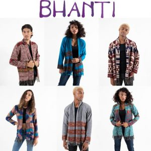 Bhanti logo and pics of models in clothing